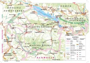 Mapa trasy pieszo-rowerowej